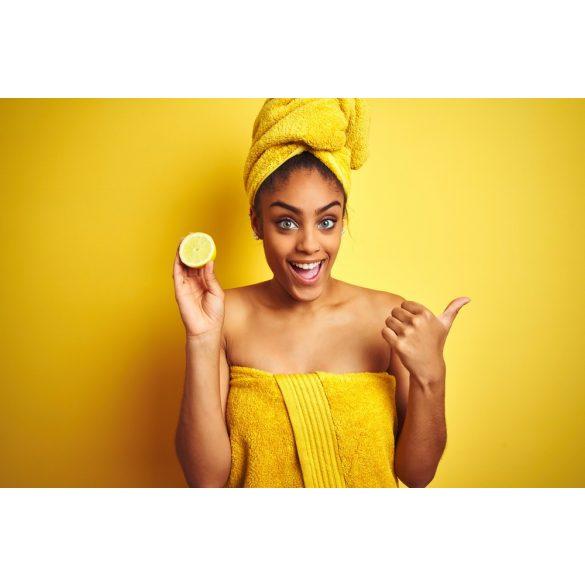 Selymes  citromos fürdőtej flakonnal - NAGY KISZERELÉS
