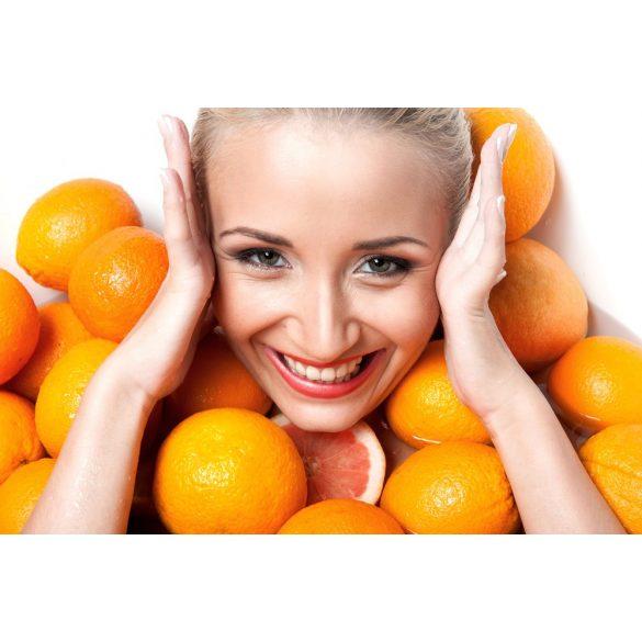 Selymes narancsos fürdőtej flakonnal, NAGY KISZERELÉS!
